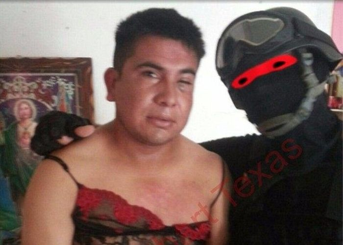 Marine Humiliates Mexican Drug Bosses By Making Them Wear