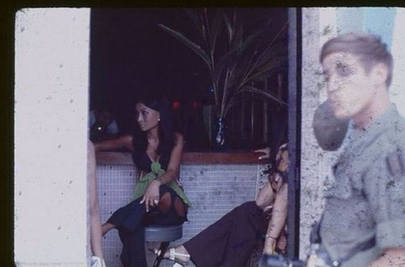 Bar Girls During The Vietnam War In A Candid Color Shots