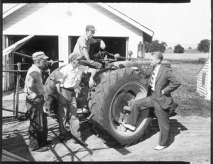 Picture of President Gerald Ford on the Patterson Farm