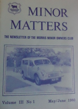 Minor Matters Magazine outsourced to a printers
