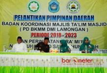 ORNOM BARU: Pelantikan PD BKMM DMI Lamongan di Gedung Ikatan Persaudaraan Haji Indonesia (IPHI) Lamongan, Kamis (19/4).   Foto: Barometerjatim.com/HAMIM ANWAR