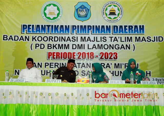 ORNOM BARU: Pelantikan PD BKMM DMI Lamongan di Gedung Ikatan Persaudaraan Haji Indonesia (IPHI) Lamongan, Kamis (19/4). | Foto: Barometerjatim.com/HAMIM ANWAR