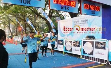 EVENT INTERNASIONAL: The Malang Marathon diikuti Komandan Korem (Danrem) 083/Baladhika Jaya, Kolonel Inf Bagus Suryadi Tayo, Minggu (29/7). | Foto: IST