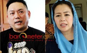 BUTUH KERJA KERAS: Giyanto Wijaya (kiri) dan Yenny Wahid, butuh kerja keras untuk memenangkan Jokowi-Ma'ruf Amin khususnya di wilayah Jawa Timur.   Foto: Barometerjatim.com/ROY HASIBUAN/IST