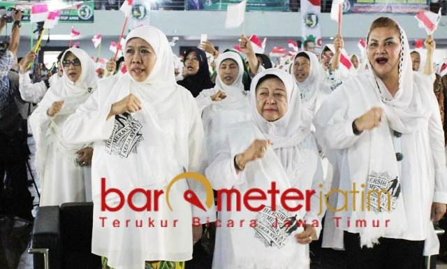 TOTALITAS KHOFIFAH-JKSN: Khofifah dan JKSN, bergerak di dalam dan luar negeri untuk memenangkan Jokowi-Kiai Ma'ruf Amin di Pilpres 2019. | Foto: Barometerjatim.com/ROY HASIBUAN