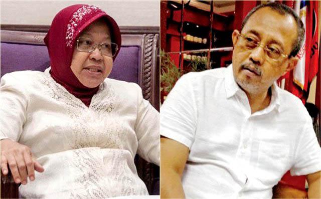 Armuji (kanan) dan Tri Rismaharini, saatnya Pemkot Surabaya berbenah soal perizinan. | Foto: Ist