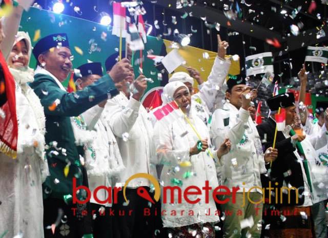 JKSN DKI JAKARTA: Deklarasi JKSN Jakarta di Istora Senayan, Jakarta, Rabu (19/12). NU kultural bersatu dukung Jokowi-Ma'ruf Amin. | Foto: Barometerjatim.com/SYAIFUL KHUSNAN