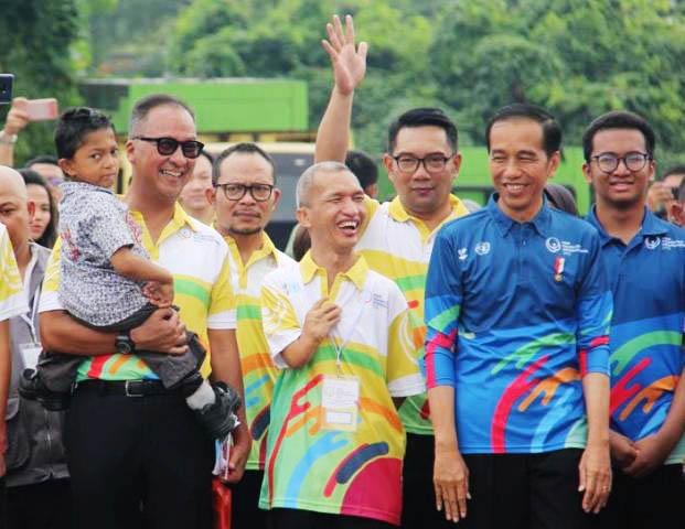 PERINGATAN HDI 2018: Presiden Jokowi dan sejumlah menteri di Kabinet Kerja menghadiri peringatan HDI di Bekasi, Senin (3/12).   Foto: IST