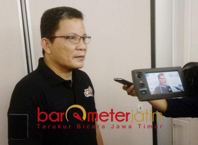 SIAP MENGGEBRAK: Reginald Nelwan, optimis Jakarta Garuda tampil maksimal di GOR Tridharma, Gresik, 14-16 Desember. | Foto: Barometerjatim.com/DANI KUMARA