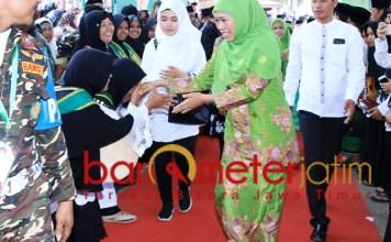 Khofifah menghadiri pembukaan Munas Alim Ulama-Konbes NU.   Foto: Barometerjatim.com/syaiful kusnan