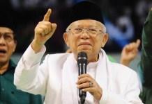 Ma'ruf Amin, Pilpres perang ideologi antara kelompok moderat dan radikal.   Foto: Ist