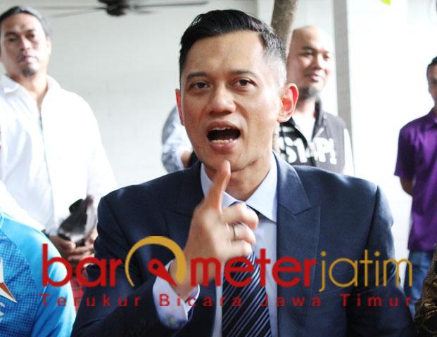 AHY minta Romahurmuziy jangan asal catut nama Khofifah. | Foto: Barometerjatim.com/roy hasibuan