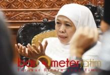 Khofifah terima audiensi ketua PTA Surabaya di Grahadi, Selasa (5/3/2019). | Foto: Barometerjatim.com/abdillah hr