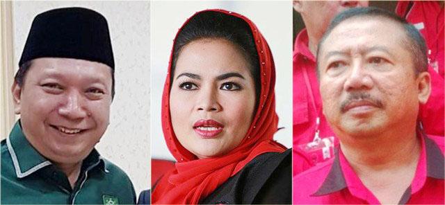Elektabilitas Fandi Utomo (kiri) lewati Puti Guntur (tengah) dan Bambang DH.   Foto: Ist