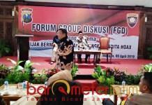 Setop hoaks! FGD Polres Lamongan di Pendopo Lokatantra, Selasa (9/4/2019). | Foto: Barometerjatim.com/hamim anwar