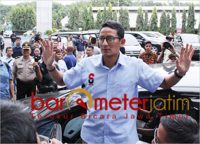 Sandiaga Uno usai dialog interaktif dengan guru PAUD di Surabaya.   Foto: Barometerjatim.com/roy hs