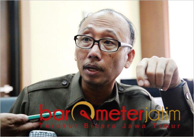 Suli Da'im, PT PWU harusnya memberi contoh soal ketenagakerjaan. | Foto: Barometerjatim.com/roy hs