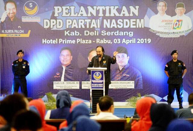 Surya Paloh, Jokowi mampu menggerakan perubahan restorasi yang diinginkan Nasdem. | Foto: Ist
