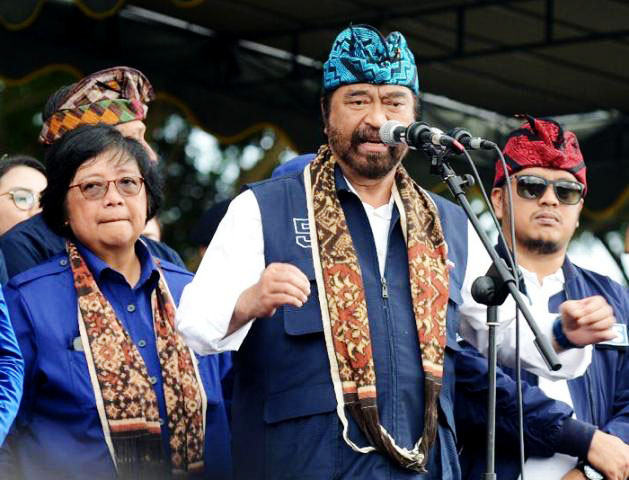 Surya Paloh, hadiri kampanye di Stadion Gunung Agung, Karangasem, Bali, Minggu (7/4/2019).   Foto: Ist