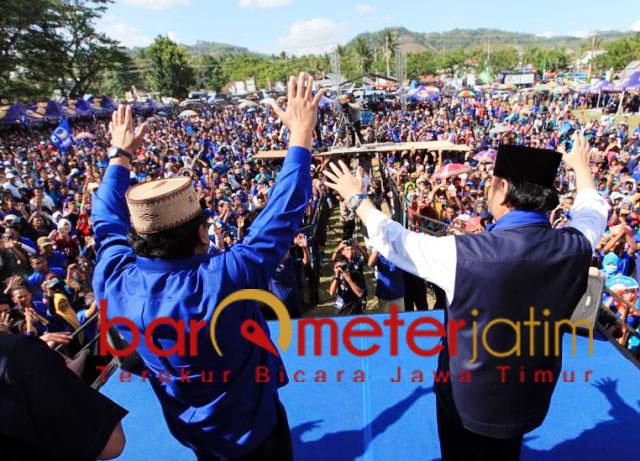 Surya Paloh! Jokowi menang di Pilpres, Nasdem tiga besar di Pileg.   Foto: Barometerjatim.com/natha lintang