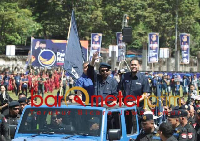 Surya Paloh dan Prananda! Birukan Sulawesi, menangkan Nasdem dan Jokowi. | Foto: Barometerjatim.com/natha lintang