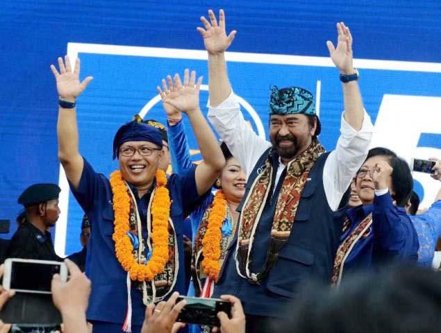 Surya Paloh, strategi jitu membuat peningkatan elektoral Nasdem paling signifikan di Pemilu 2019.   Foto: Ist