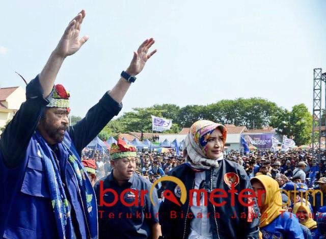 Kampanye Nasdem di Probolinggo. Surya Paloh, jangan coba-coba ganti Pancasila. | Foto: Barometerjatim.com/natha lintang