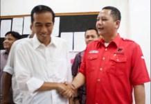 Whisnu Sakti Buana (kanan) bersama Presiden Jokowi. PKB Jangan asal bicara tuding penggelembungan! | Foto: Ist