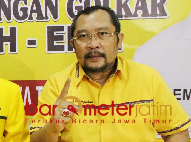 Sahat Tua Simanjuntak, geram dengan jawaban berbelit-belit KPU Jatim. | Foto: Barometerjatim.com/dok