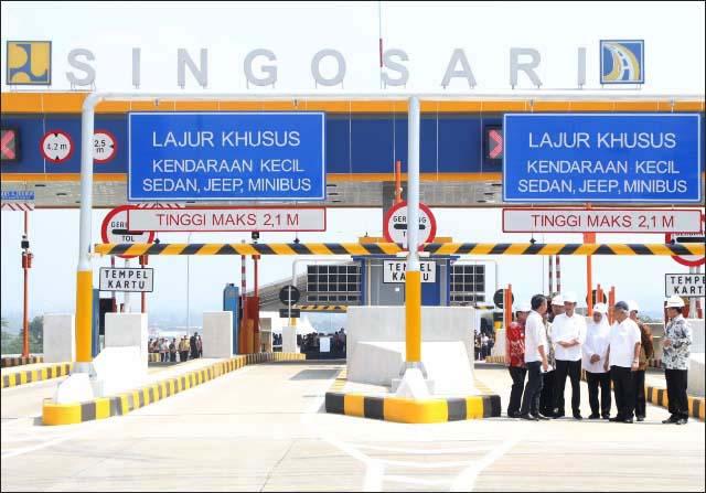Jalan tol Pandaan-Malang seksi I-III resmi beroperasi dan digratiskan sampai lebaran. | Foto: Ist