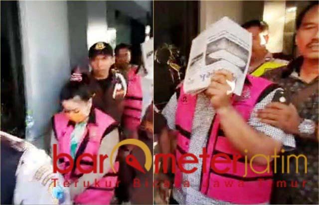 KREDIT FIKTIF: Dua tersangka kasus kredit BRI Rp 10 miliar ditahan Kejari Surabaya. | Foto: Barometerjatim.com/ABDILLAH HR