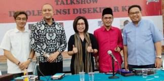 JUNJUNG TOLERANSI: Dhimas Anugrah (dua dari kiri), toleransi di Indonesia hal sangat urgen saat ini. | Foto: IST