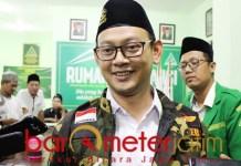 PELETONISASI KADER: Gus Syafiq, siap bertarung di pemilihan ketua Ansor Jatim lewat Konferwil. | Foto: Barometerjatim.com/ROY HS