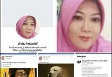 HINA PRESIDEN JOKOWI: Akun FB Aida Konveksi sebarkan gambar Presiden Jokowi ala mumi. | Foto: IST