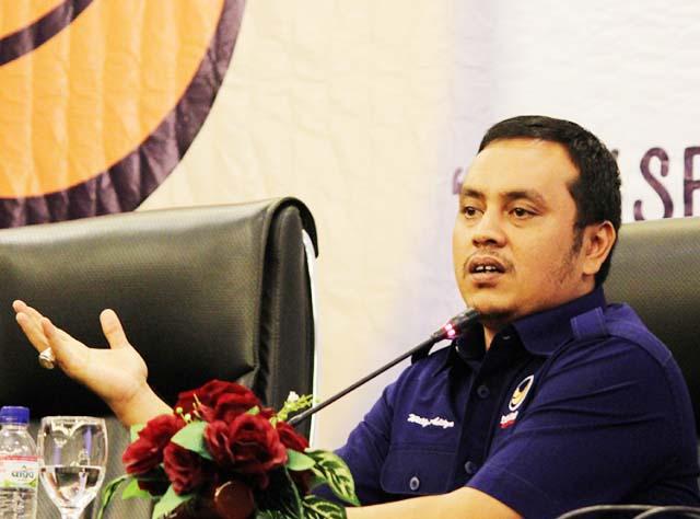 MASIH SURYA PALOH: Willy Aditya, pengurus setiap tingkatan menginginkan Surya Paloh kembali Ketum Nasdem.   Foto: IST