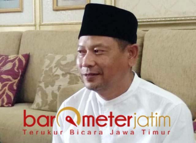 SIAP NYALON BUPATI: Abdul Ghofur, siap maju bupati Lamongan asal diperintah PKB. | Barometerjatim.com/HAMIM ANWAR