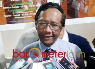 CARA CARA LAIN: Mahfud MD, para penolak revisi UU KPK bisa cari cara lain.   Foto: Barometerjatim.com/ROY HS