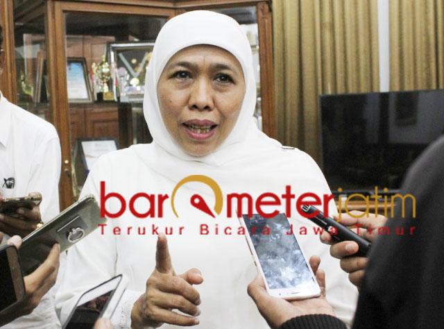 PENUSUKAN WIRANTO: Khofifah, pelaku penusukan Wiranto tak bisa ditolelir. | Foto: Barometerjatim.com/ROY HS