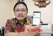 JALAN LOEWE: Gatot Sulistyo Hadi, luncurkan aplikasi Jalan Rusak Lapor Dewe. | Foto: Barometerjatim.com/ROY HS