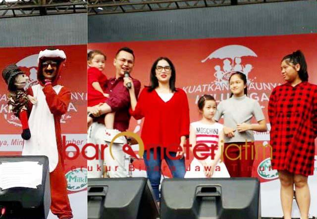 HARI IBU: Kak Harris (foto kiri) dan keluarga Ussy Sulistyowati. | Foto: Barometerjatim.com/COY