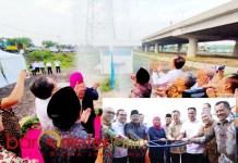 HAMPIR KELAR: Soft launching SPAM Umbulan di offtake Porong, Sidoarjo, Minggu (22/12) sore. | Foto: Barometerjatim.com/ROY HS