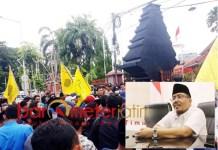 TAK SUBSTANTIF: Anwar Sadad, PMII ganti tema demo tapi tak nyambung. | Foto: Barometerjatim.com/ROY HS