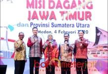 MISI DAGANG JATIM: Khofifah pimpin misi dagang Jatim di Sumut. | Foto: Barometerjatim.com/ROY HS