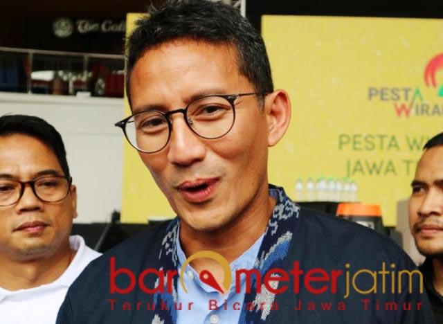 MINTA GAMAL GASPOL: Sandiaga Uno, politik di Pilwali Surabaya masih cair. | Foto: Barometerjatim.com/RETNA MAHYA