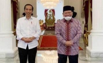PERTEMUAN SATU JAM: La Nyalla temui Jokowi, bicara ketahanan pangan di tengah Corona. | Foto: IST