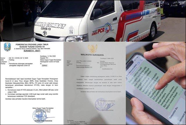 ADU BUKTI: Risma tunjukkan WA dari Doni Monardo, Pemprov beber bukti surat. | Foto: Barometerjatim.com/ROY HS