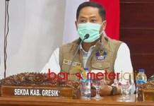 PSBB JILID 3: Nadlif, Gresik batasi mobilitas manusia dari dan ke Surabaya. | Foto: Barometerjatim.com/ROY HS