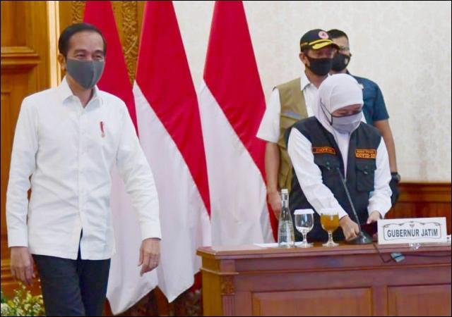 PROBLEM MASKER: Jokowi perintahkan Gugus Tugas Pusat kirim masker sebanyak-banyaknya ke Jatim. | Foto: IST