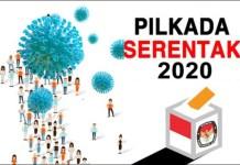 PILKADA DI TENGAH PANDEMI: Pilkada serentak 2020 bakal tetap digelar di tengah pandemi Covid-19. | Grafis: IST