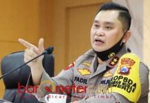 DUKUNGAN PENUH: Irjen Pol Fadil Imran, perintahkan Kapolres ngantor di Polsek.   Foto: Barometerjatim.com/ROY HS